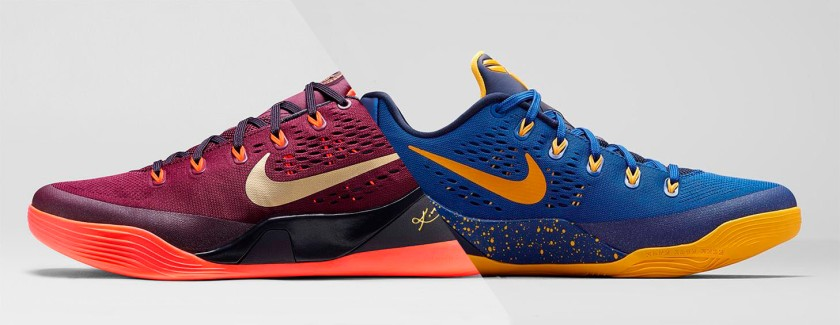 "Nike Kobe 9 ""Deep Garnet"" & Nike Kobe 9 ""Gym Blue"""