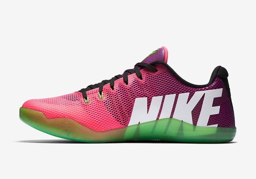 nike-kobe-11-mambacurial-pink-flash-action-green-release-date-2